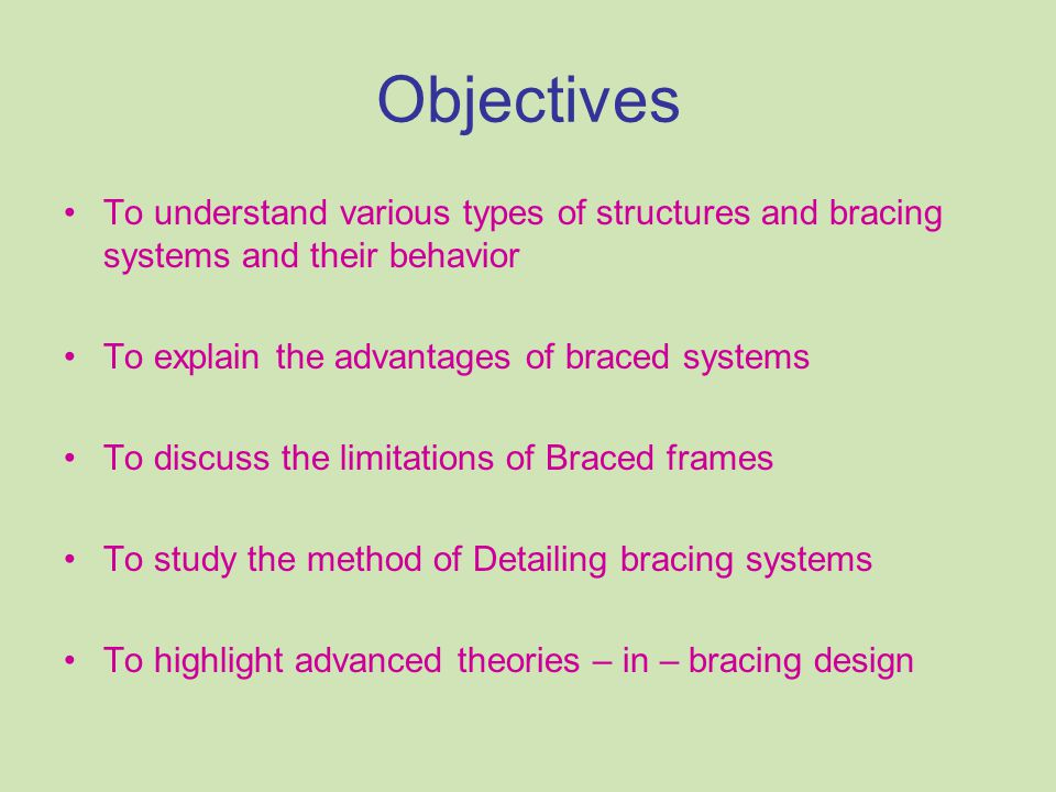 Types of Structural Framing systems Bare Frame (Moment Resistant / Rigid jointed frame) In-Filled frame Equivalent bracing system Braced frame (Pin Jointed / Truss)