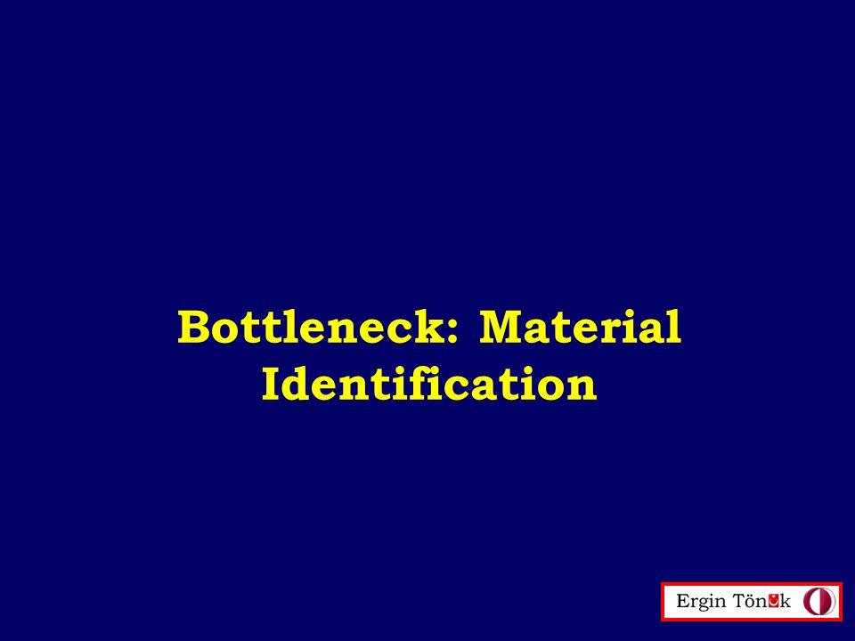 Bottleneck: Material Identification