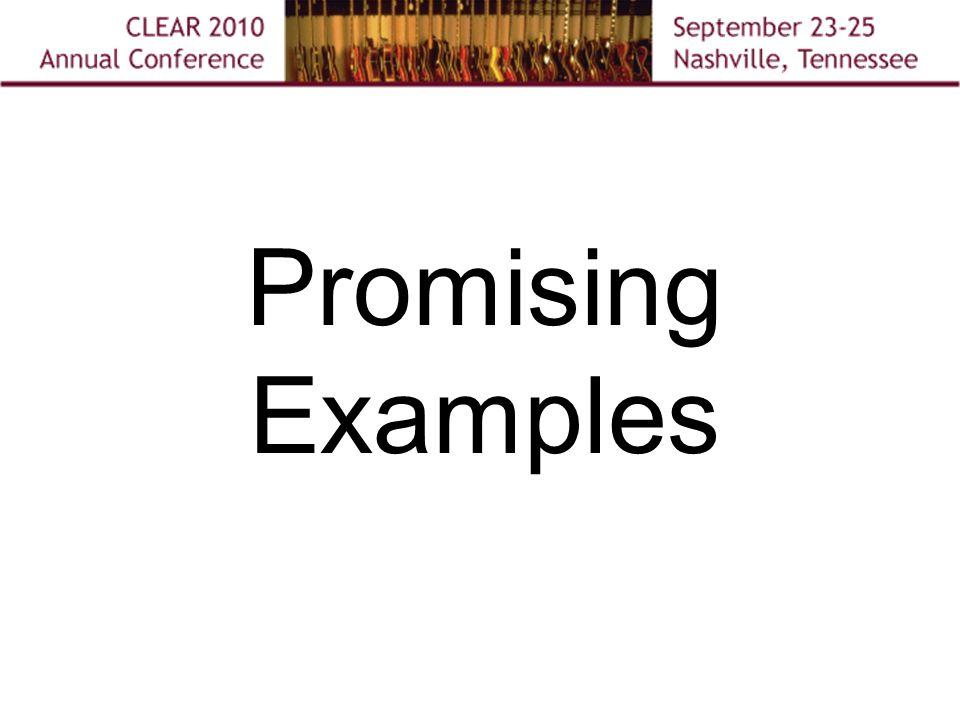 Promising Examples