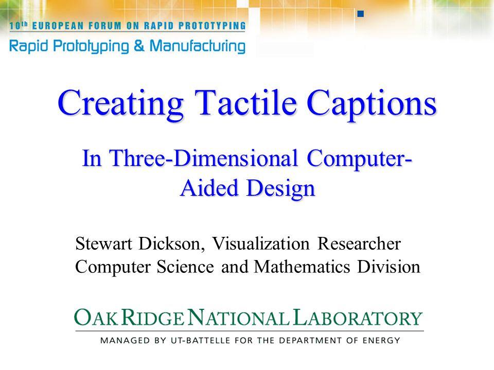 http://emsh.calarts.edu/~mathart/Tactile_Math/DotsCAD.html 3-D Braille Typesetting in CAD