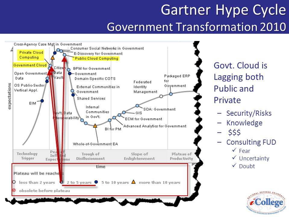 Gartner Hype Cycle Government Transformation 2010 Govt.