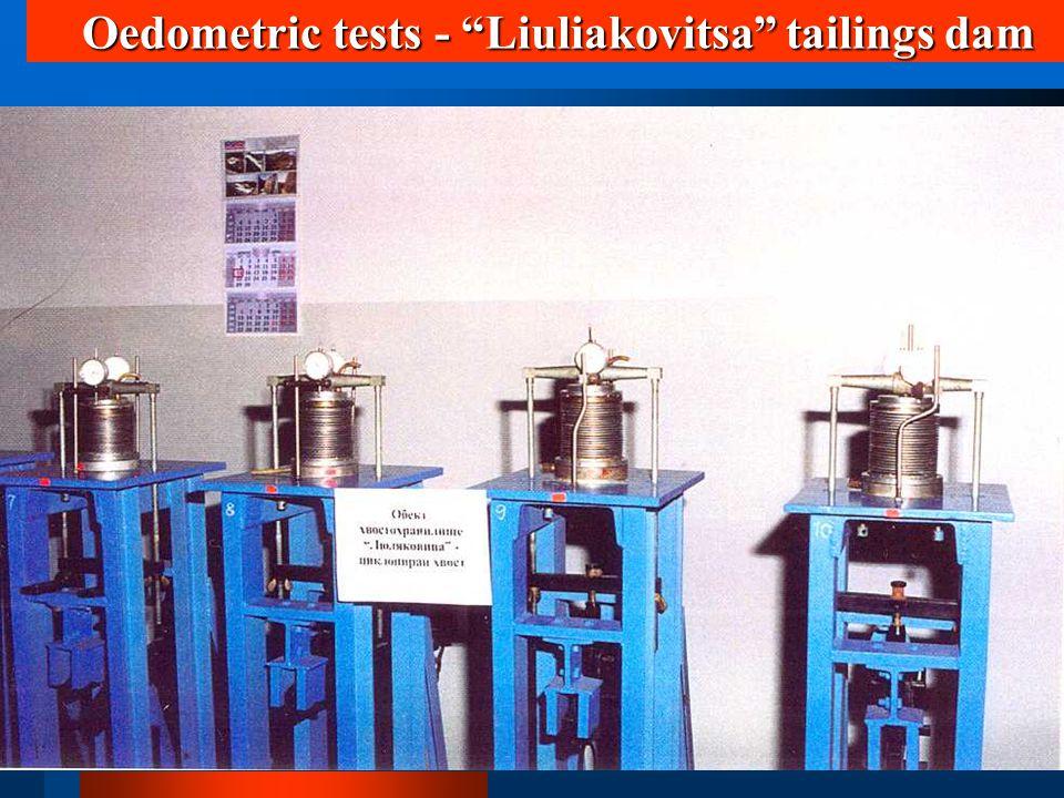 "Oedometric tests - ""Liuliakovitsa"" tailings dam"