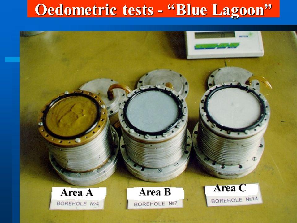 Oedometric tests - Blue Lagoon