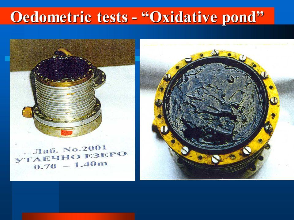 Oedometric tests - Oxidative pond