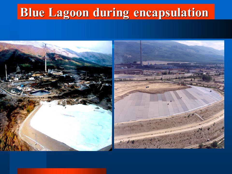 Blue Lagoon during encapsulation