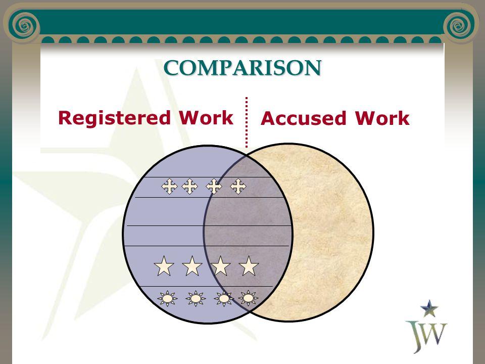 COMPARISON Registered Work Accused Work