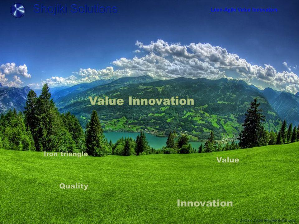 Lean-Agile Value Innovators  2008~2010 Shojiki Solutions