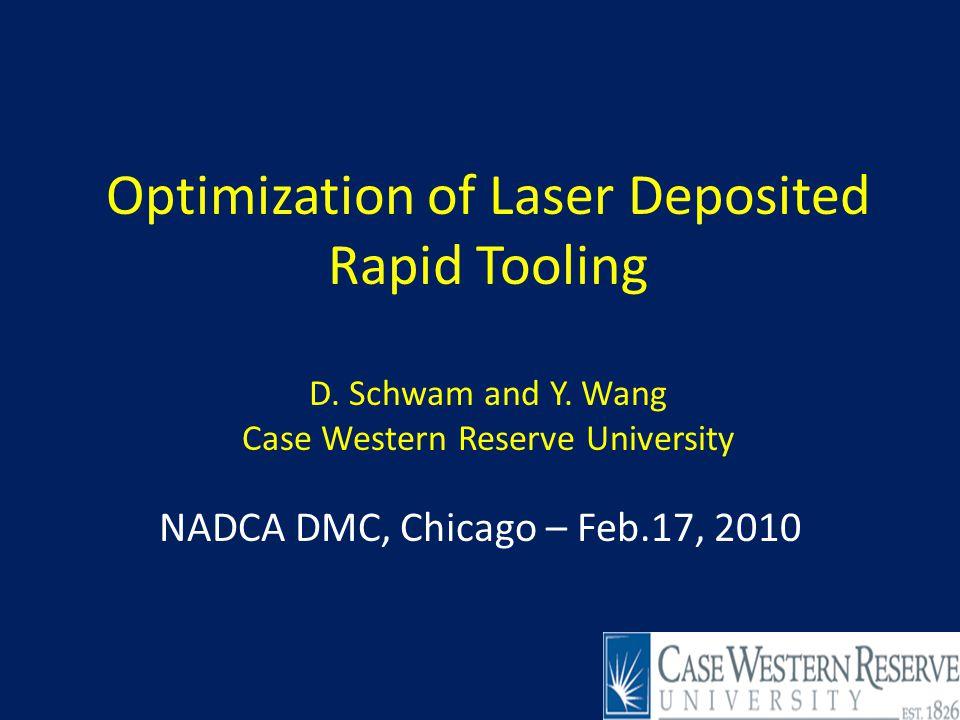 2 Outline Objectives-why laser deposit.
