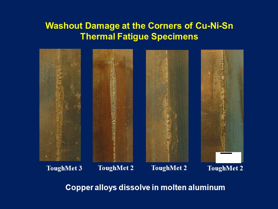 Creep Failure of in First Composite Core The core shows creep damage after 250 cycles due to insufficient stiffness and strength at high temperature.