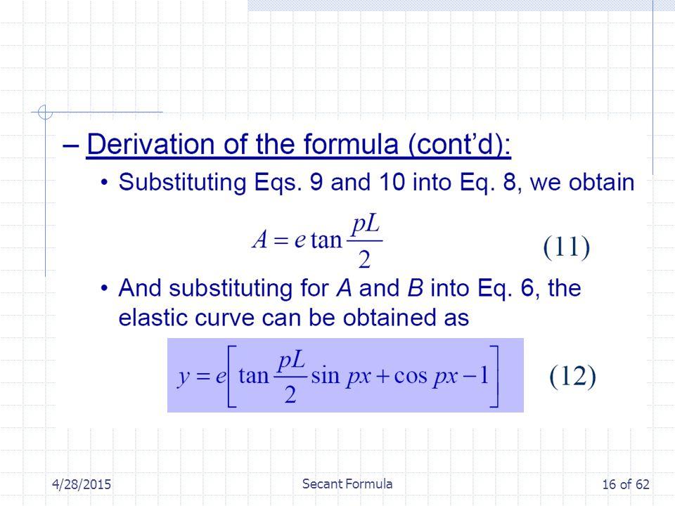 4/28/2015 Secant Formula 16 of 62