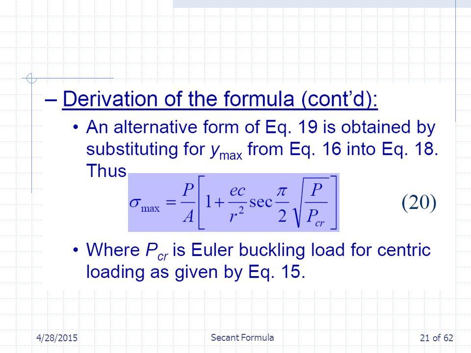 4/28/2015 Secant Formula 21 of 62