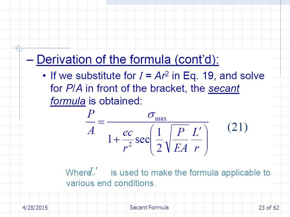 4/28/2015 Secant Formula 23 of 62