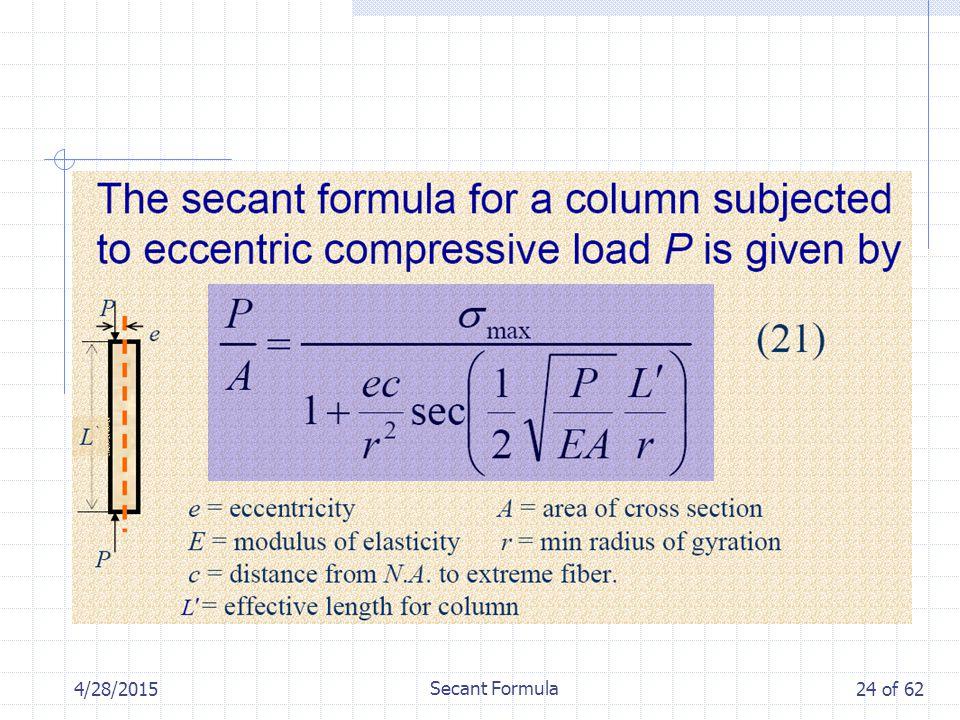 4/28/2015 Secant Formula 24 of 62