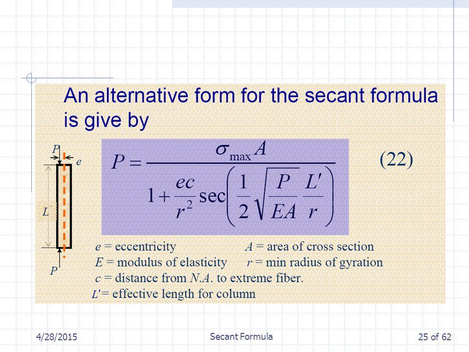 4/28/2015 Secant Formula 25 of 62