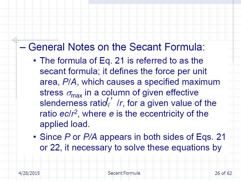 4/28/2015 Secant Formula 26 of 62