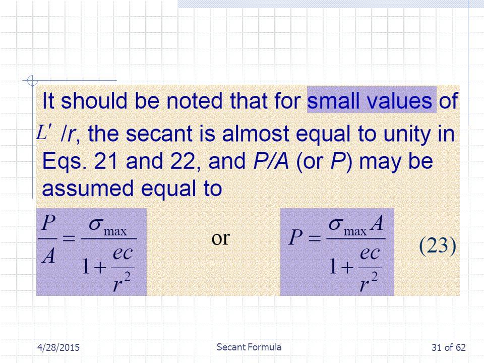 4/28/2015 Secant Formula 31 of 62