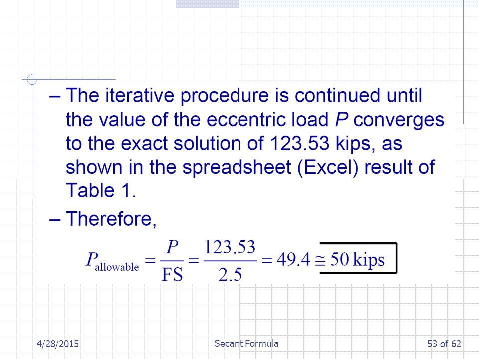 4/28/2015 Secant Formula 53 of 62