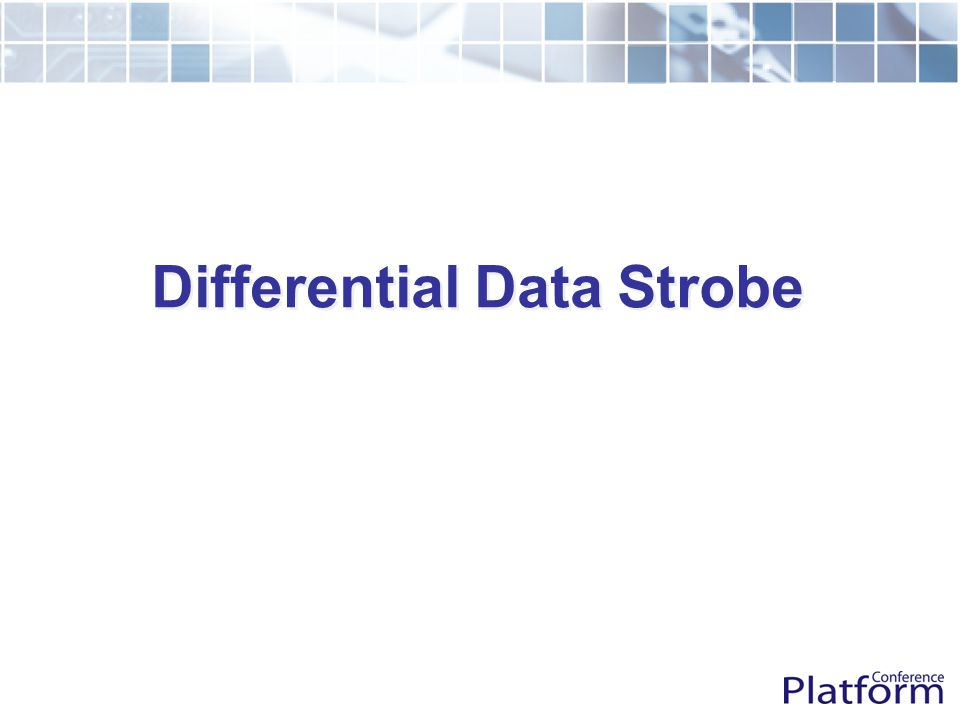 Differential Data Strobe