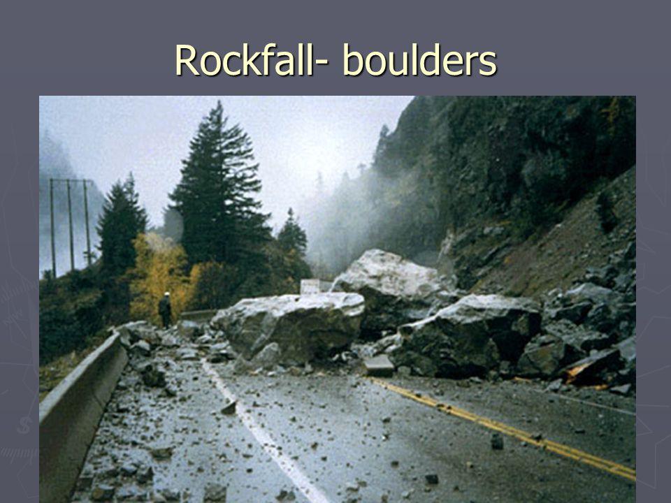 Rockfall- boulders
