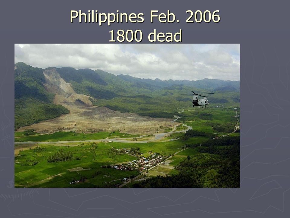 Philippines Feb. 2006 1800 dead