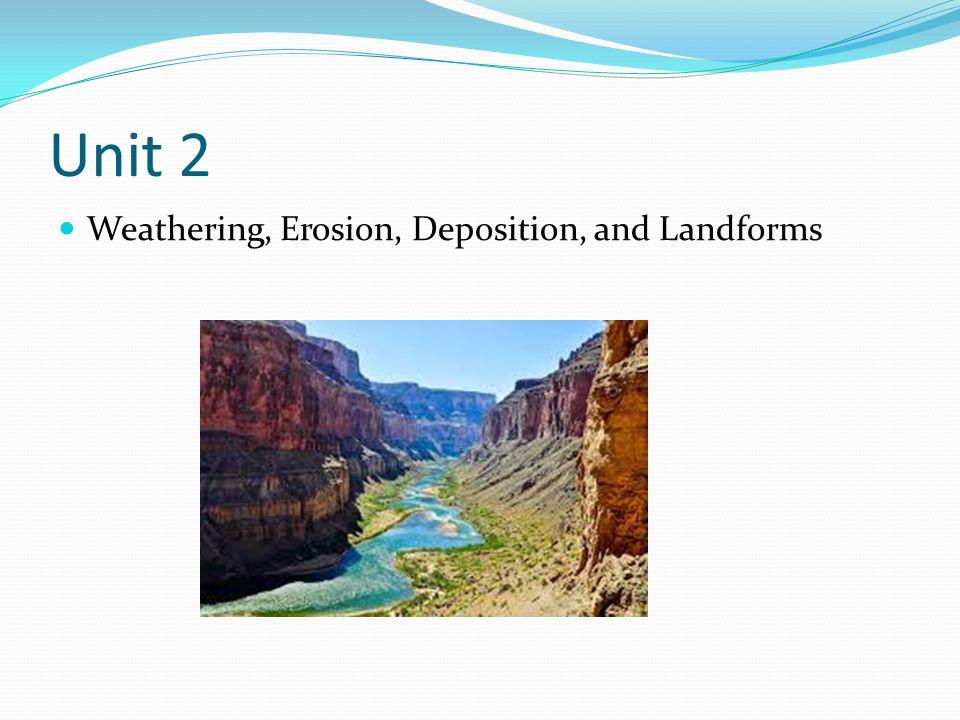 Unit 2 Weathering, Erosion, Deposition, and Landforms