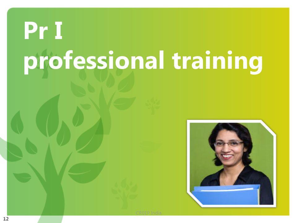 12 Pr I professional training CREEP India