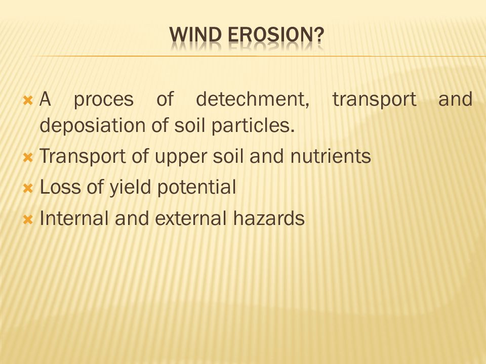 A proces of detechment, transport and deposiation of soil particles.