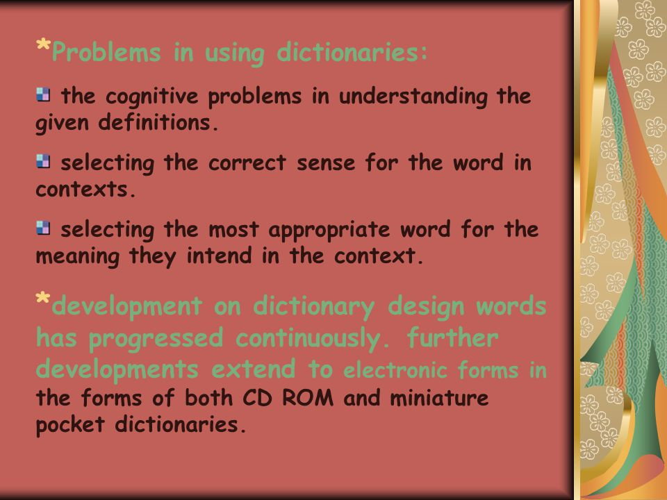 Dictionaries: Q: how do dictionaries differ in the citation forms.