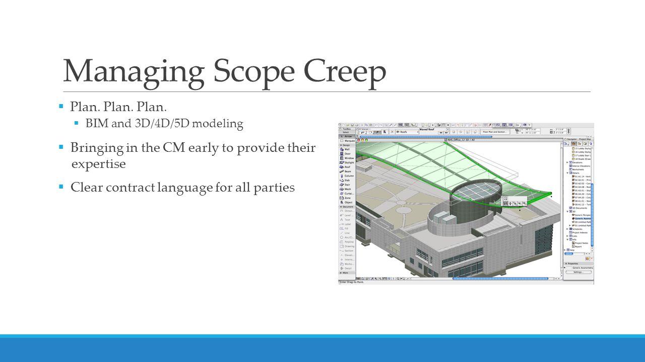 Managing Scope Creep  Plan. Plan. Plan.
