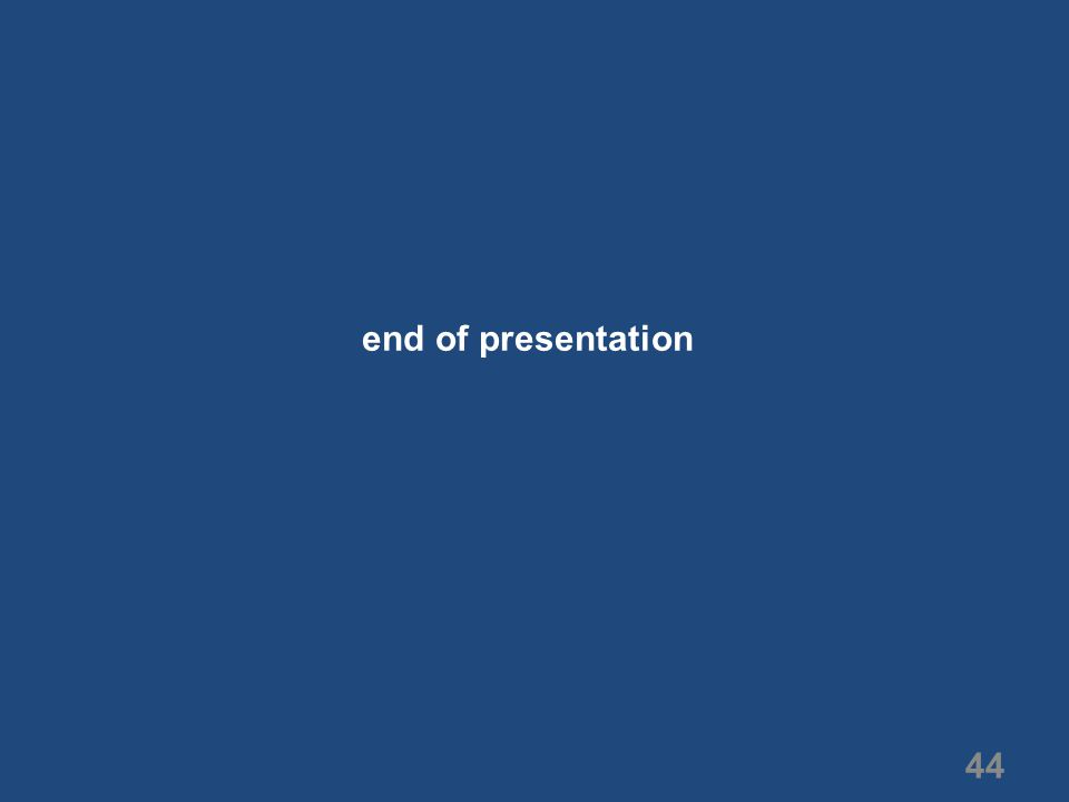 44 end of presentation