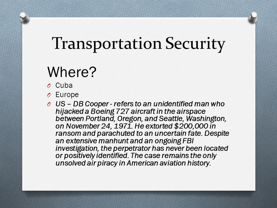 Transportation Security Where.