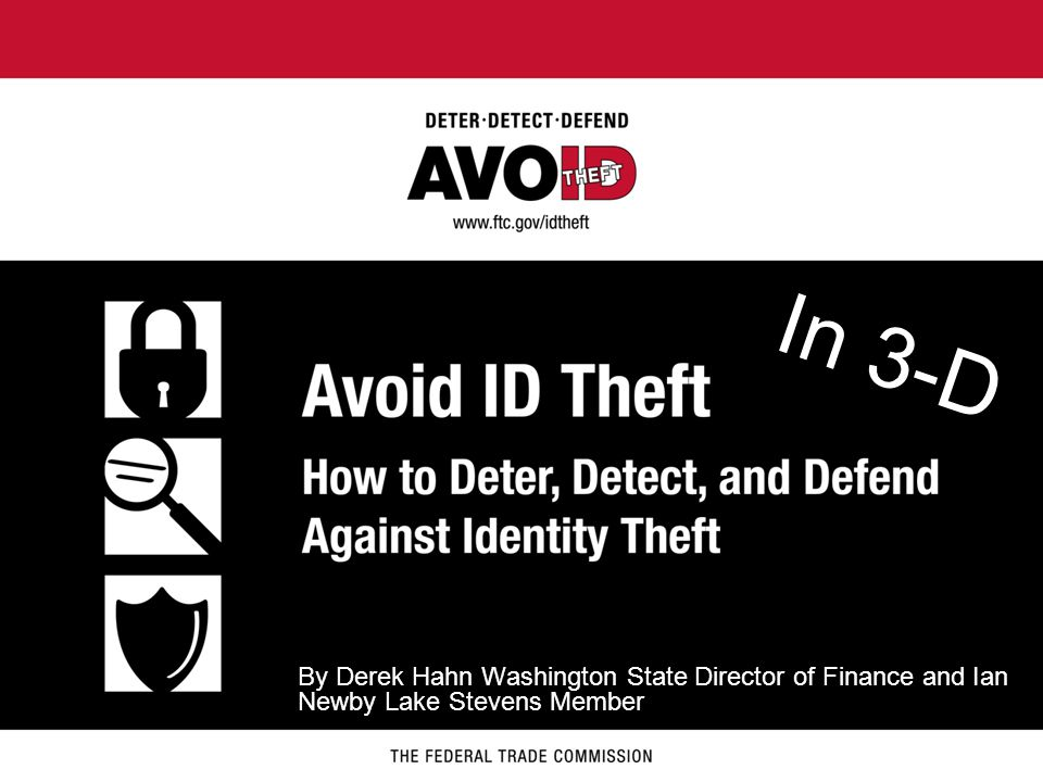 PRESENTATION OVERVIEW What is identity theft.How does identity theft happen.