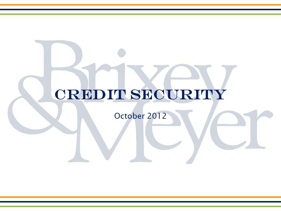 Credit Security October 2012