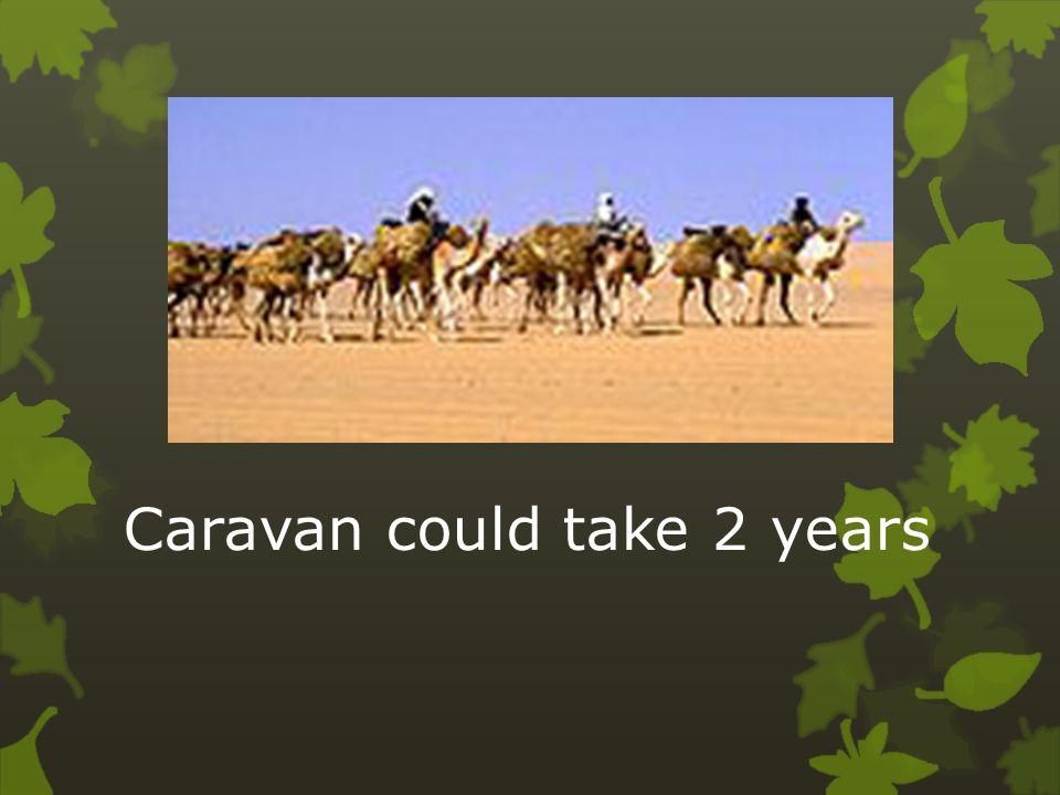 Caravan could take 2 years