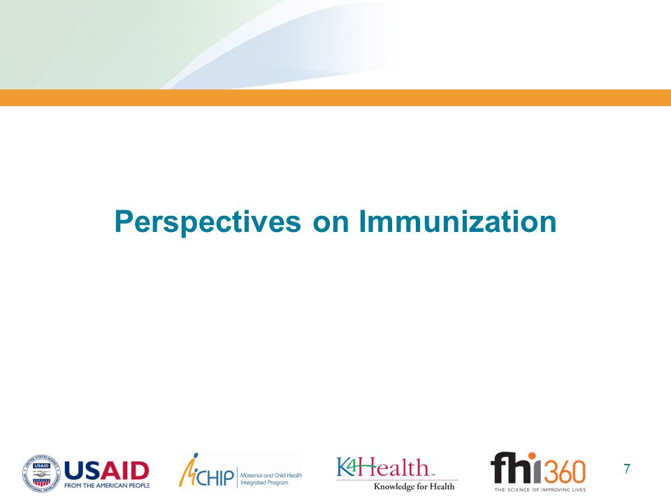 Perspectives on Immunization 7
