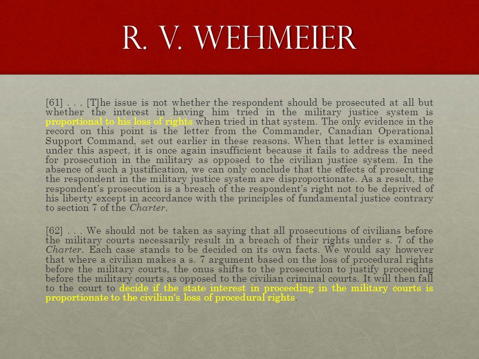 R. v. wehmeier [61]...