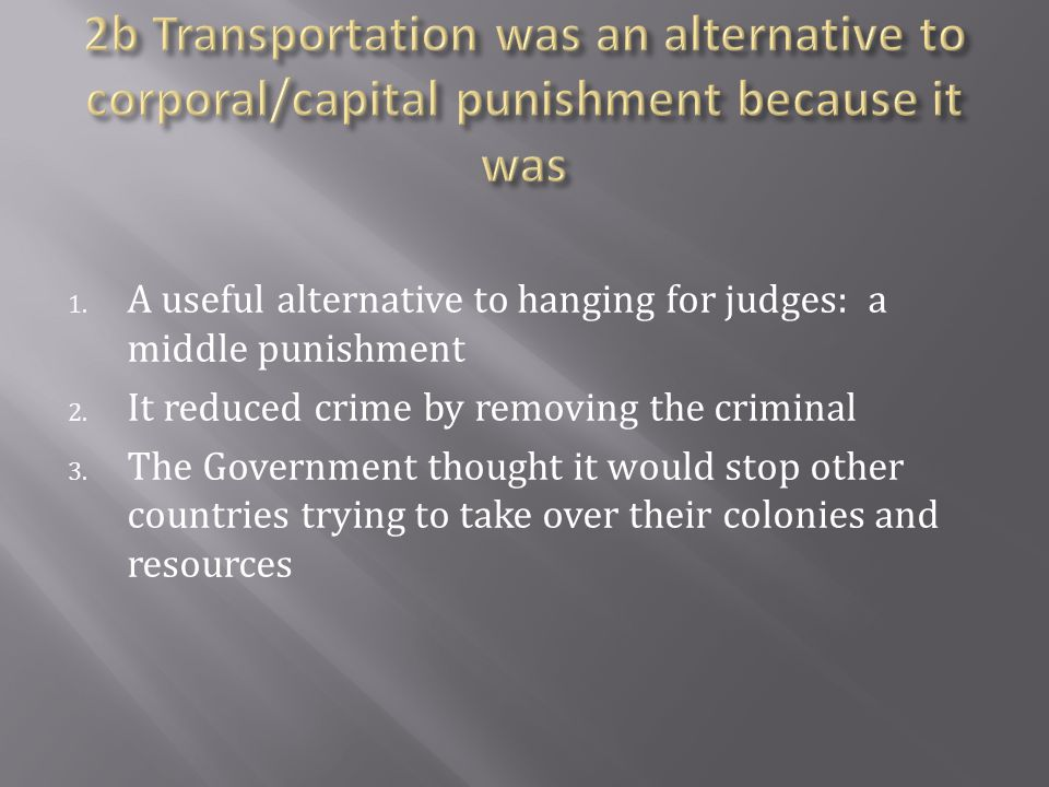 1.A useful alternative to hanging for judges: a middle punishment 2.