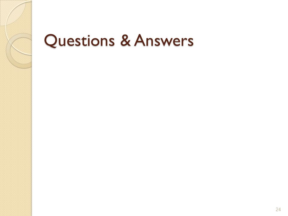 Questions & Answers 24
