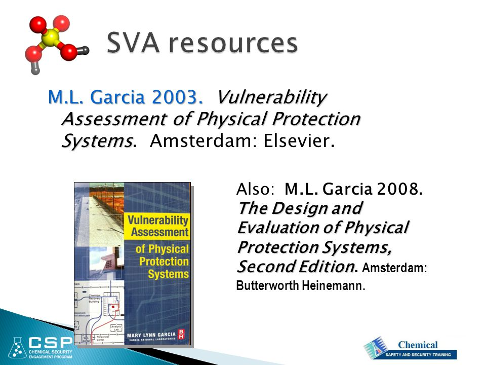M.L.Garcia 2003.Vulnerability Assessment of Physical Protection Systems M.L.