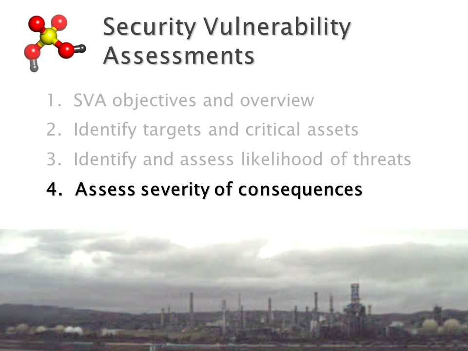 1.SVA objectives and overview 2. Identify targets and critical assets 3.