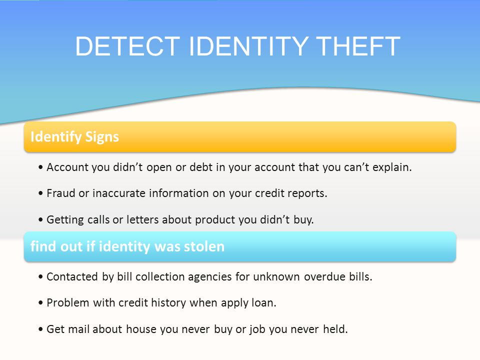 Place a fraud alert on credit reports, and review credit reports.