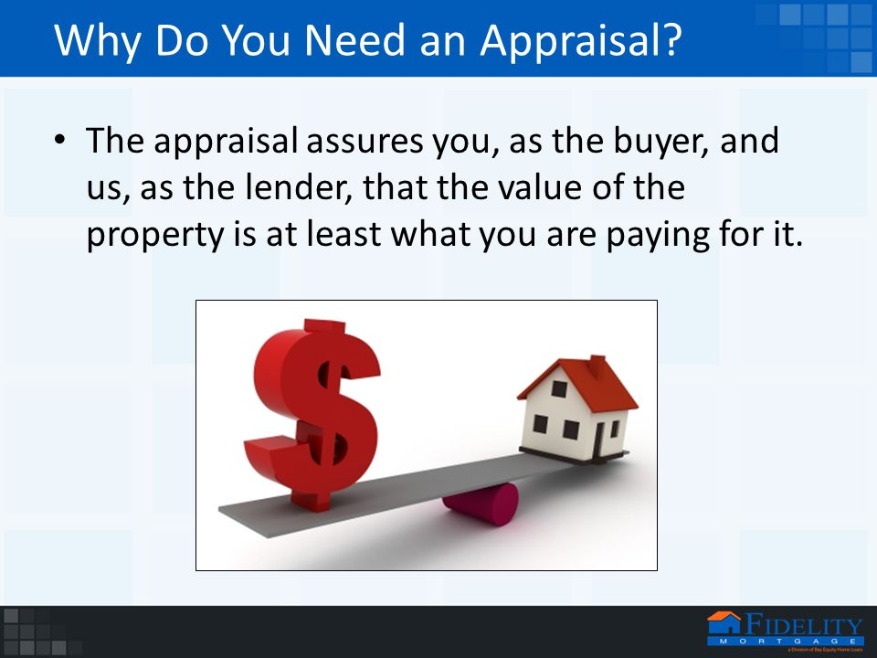 Why Do You Need an Appraisal.