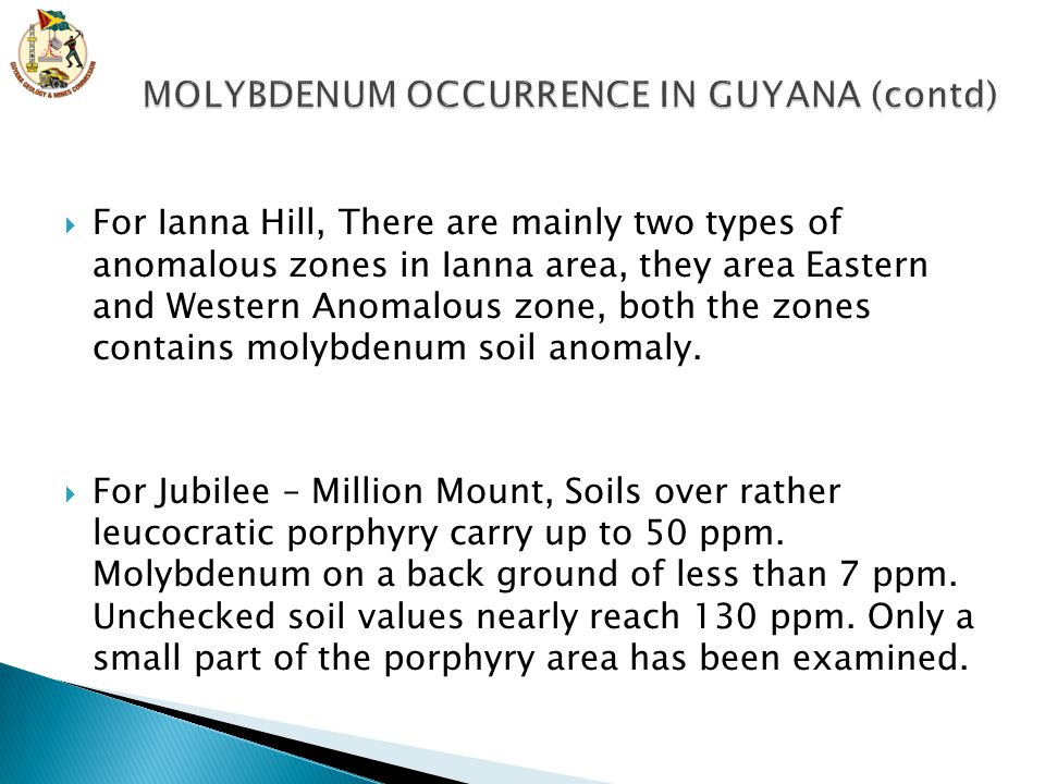  For Ianna Hill, There are mainly two types of anomalous zones in Ianna area, they area Eastern and Western Anomalous zone, both the zones contains m