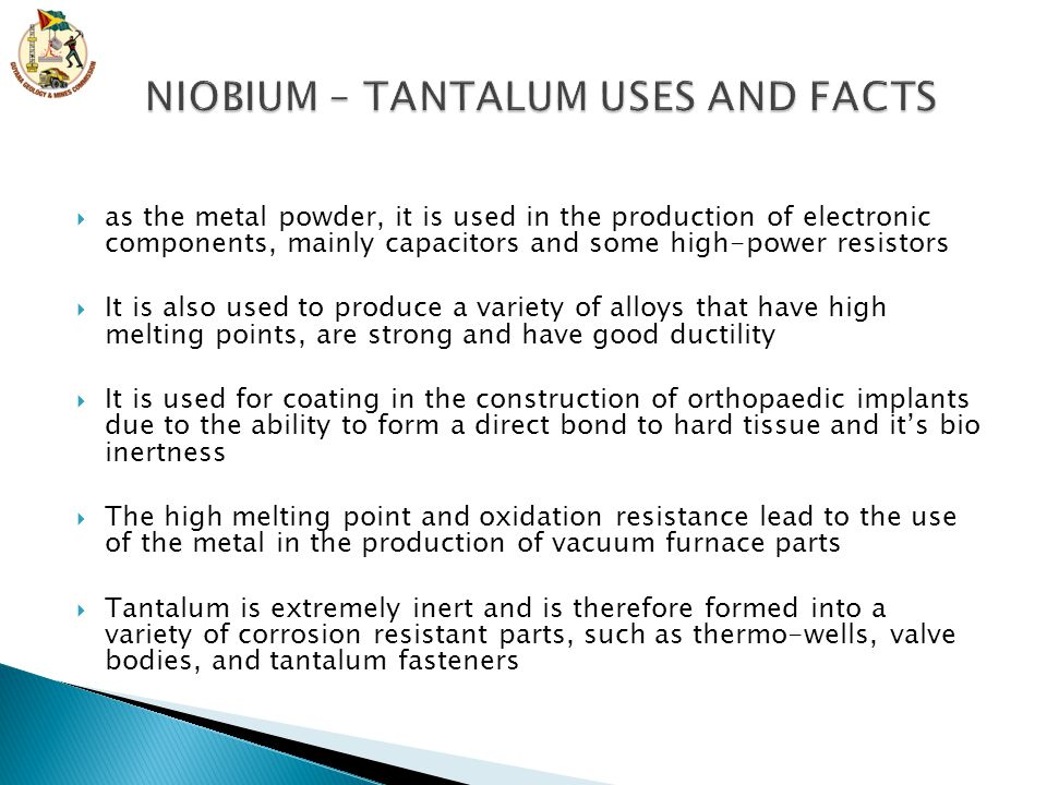  as the metal powder, it is used in the production of electronic components, mainly capacitors and some high-power resistors  It is also used to pro