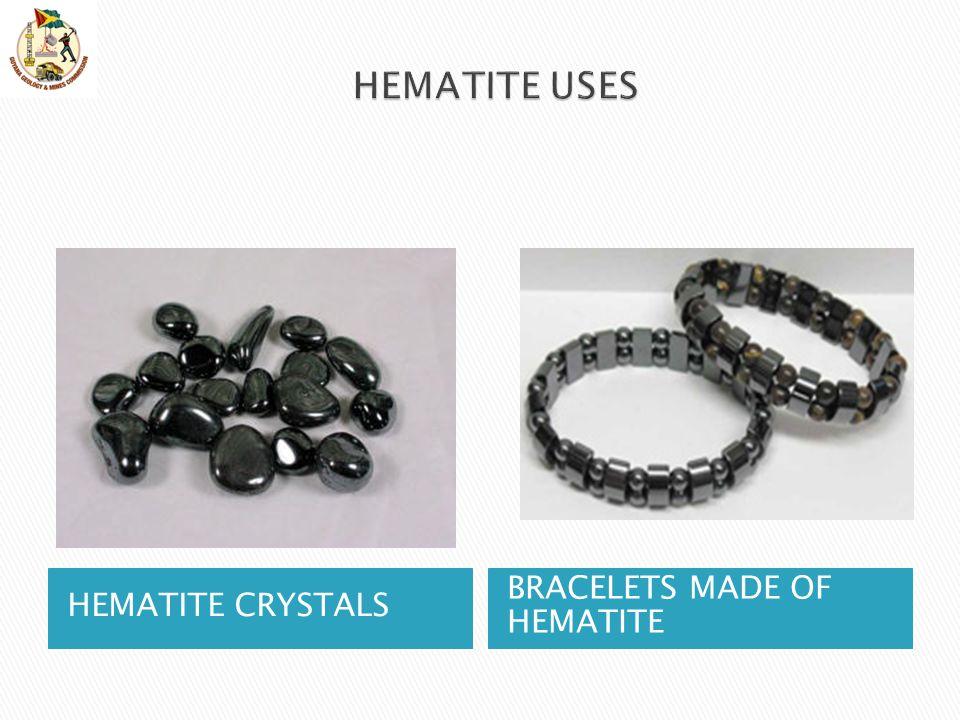 HEMATITE CRYSTALS BRACELETS MADE OF HEMATITE