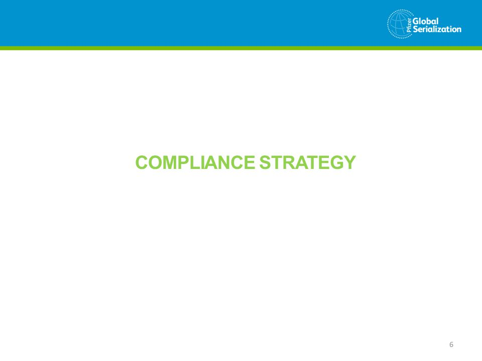 COMPLIANCE STRATEGY 6