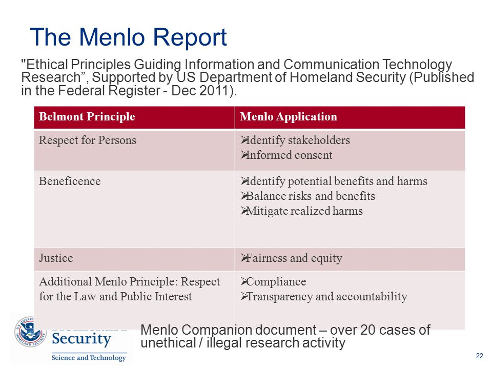 The Menlo Report