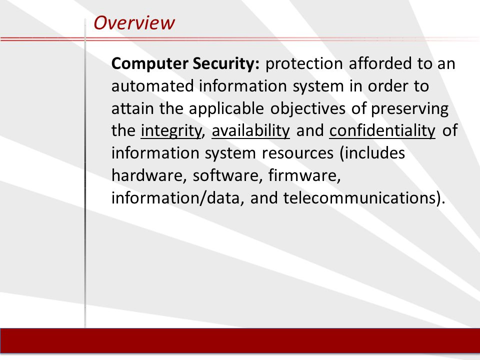 Systems Security Components / Terminology