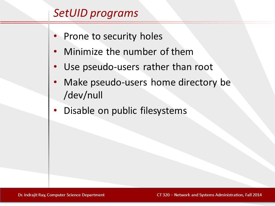 SetUID programs Dr.