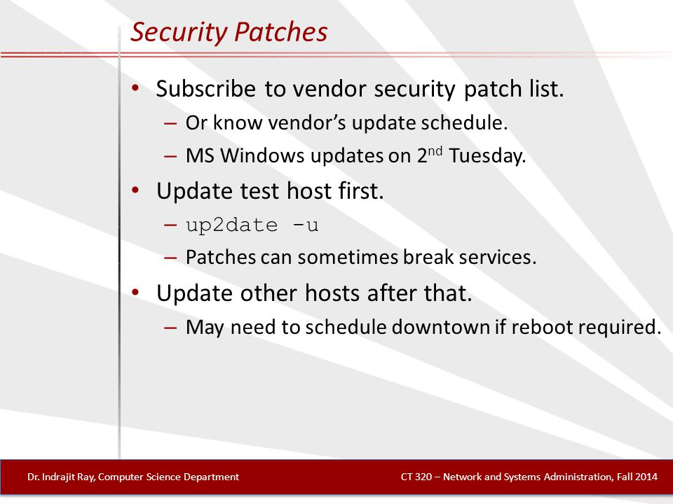 Security Patches Dr.